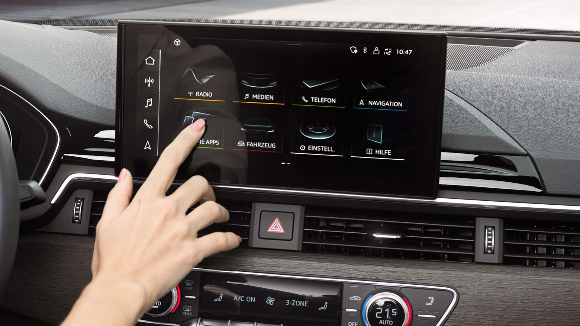 Il display MMI touch nell'Audi A5 Sportback