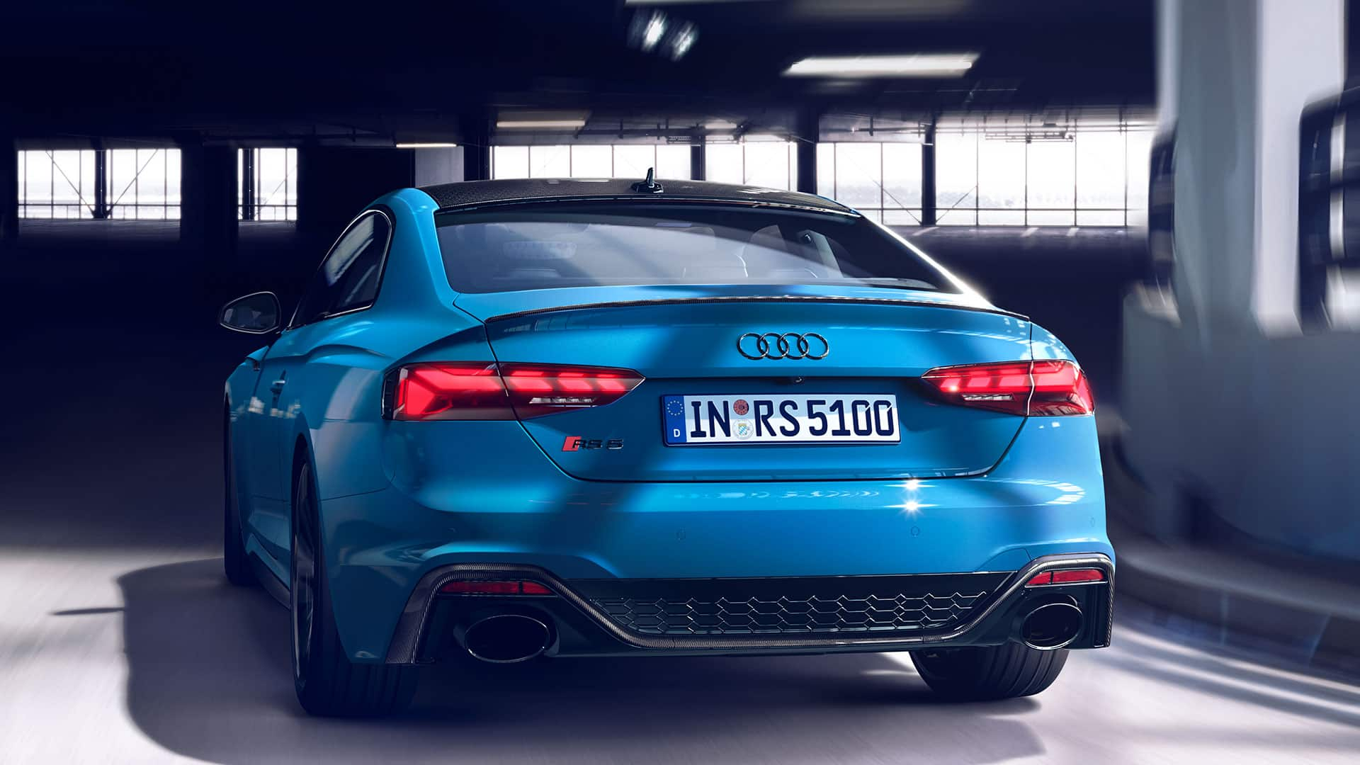 Vista posteriore dell'Audi RS 5 Coupé