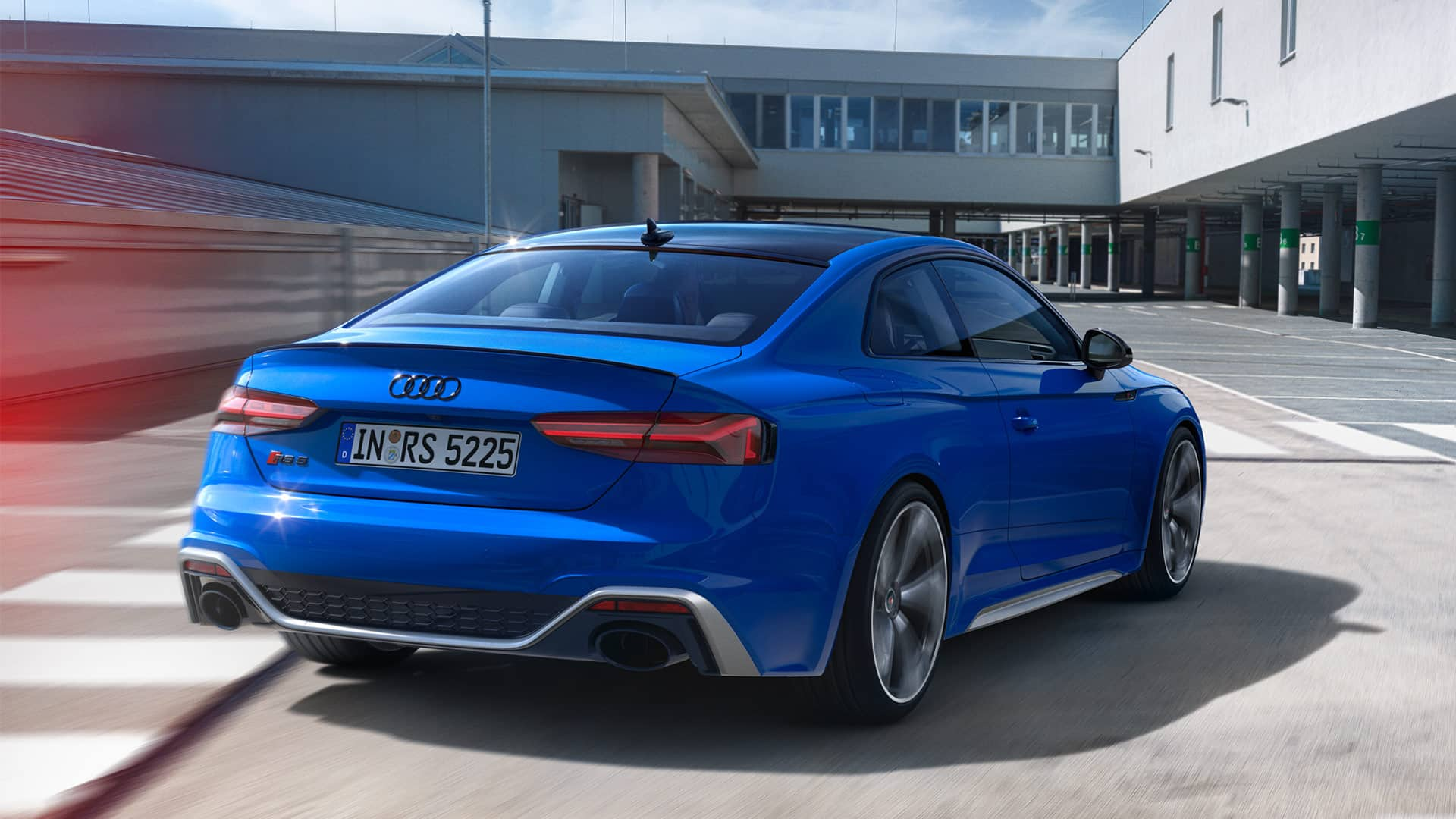 Heckansicht Audi RS 5 Coupé 25 years