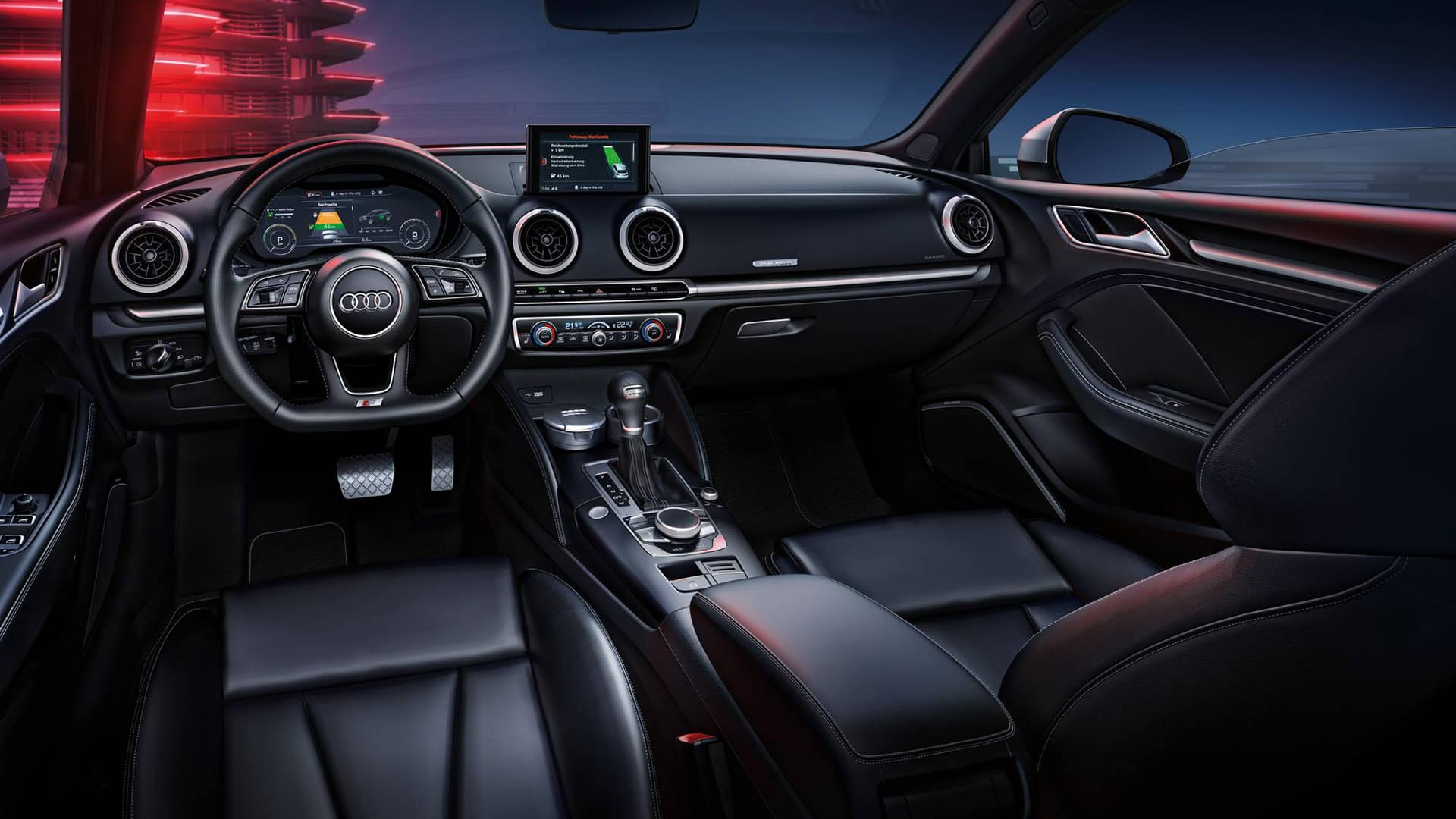 L'Audi virtual cockpit dell'Audi A3 Sportback 40 e-tron
