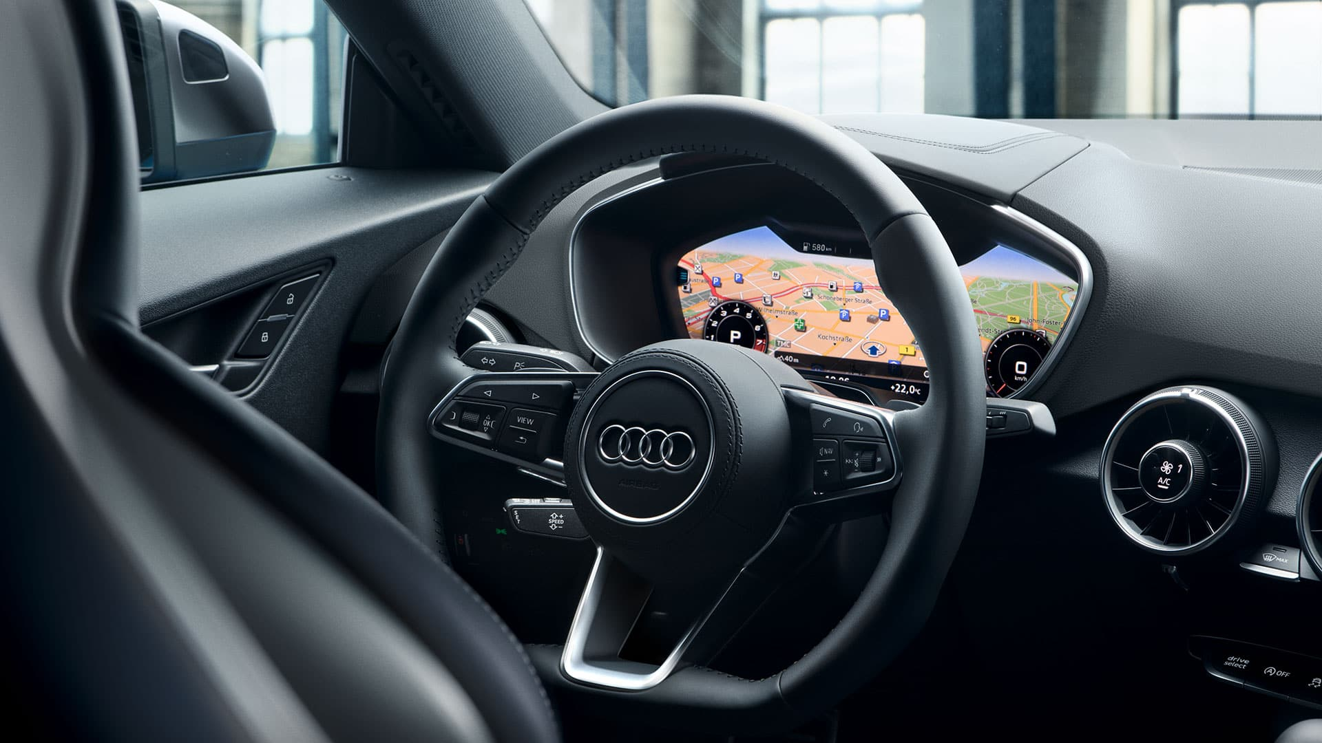 Audi virtual cockpit im TT Roadster